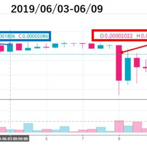 ベルコインチャート価格分析(2019/06/03-06/09)上場6週目